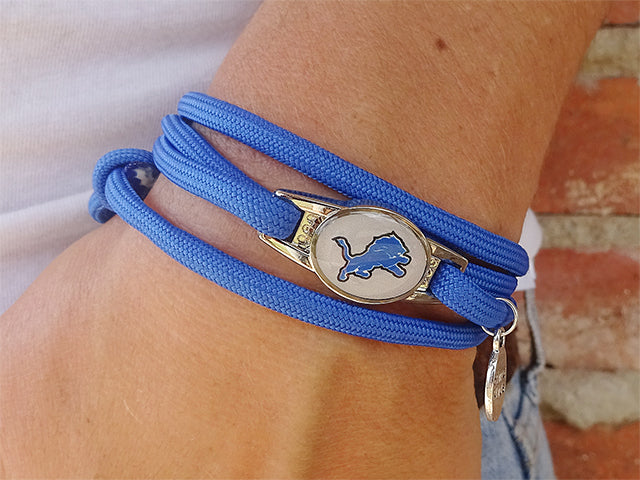 Detroit Lions Officially Licensed Designer Wrap Bracelet
