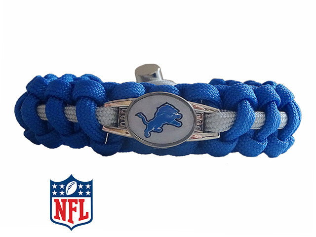 Officially Licensed NFL Detroit Lions Paracord Bracelet