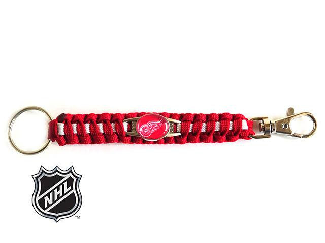 Officially Licensed NHL Detroit Red Wings Paracord Keychain