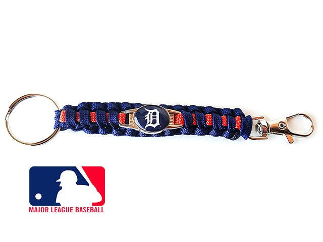 Officially Licensed MLB Detroit Tigers Paracord Keychain