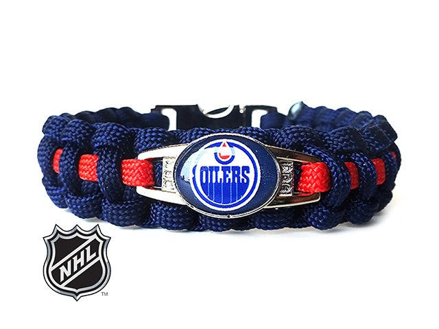 Officially Licensed NHL Edmonton Oilers Paracord Bracelet