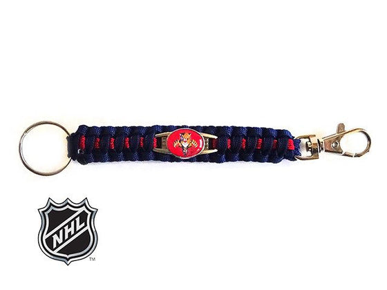 Offically Licensed NHL Florida Panthers Paracord Key Fob