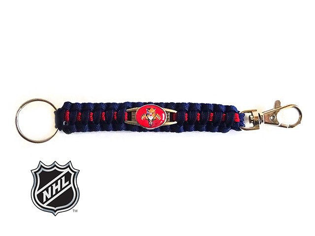 Officially Licensed NHL Florida Panthers Paracord Keychain