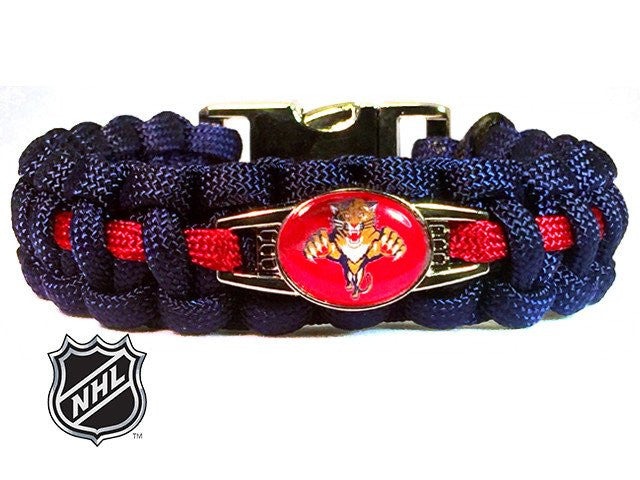 Officially Licensed NHL Florida Panthers Paracord Bracelet