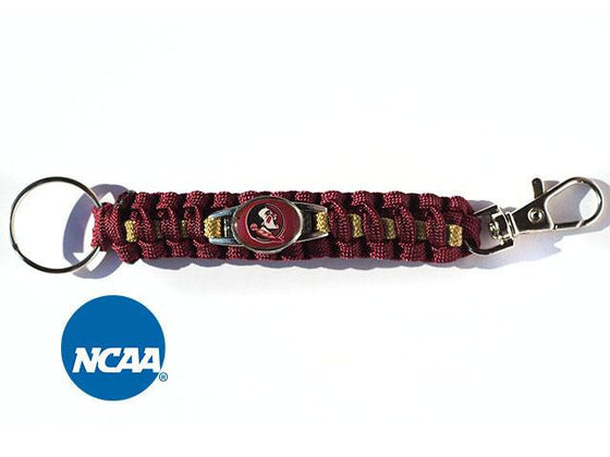 Officially Licensed Florida State Seminoles Paracord Keychain