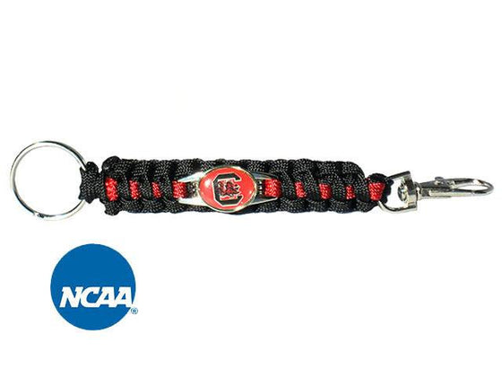 Officially Licensed South Carolina Gamecocks Paracord Keychain