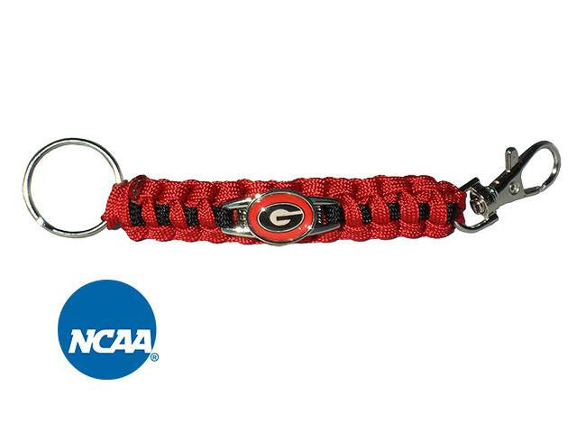 Officially Licensed Georgia Bulldogs Paracord Keychain