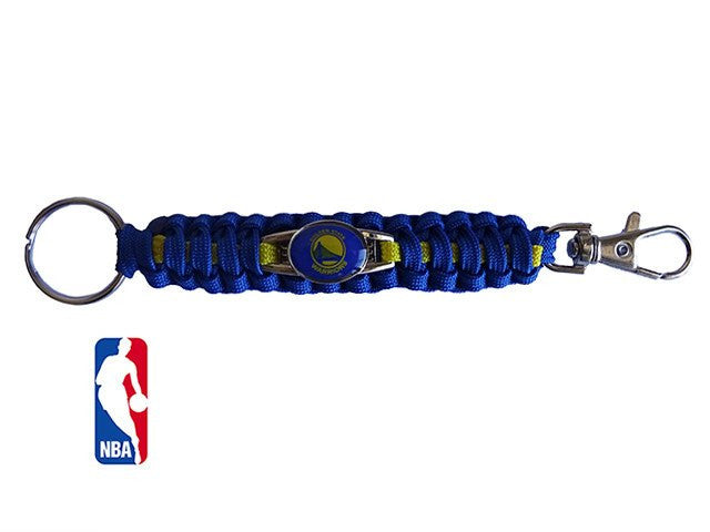Officially Licensed NBA Golden State Warriors Paracord Keychain