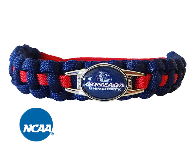 Officially Licensed Gonzaga Bulldogs Paracord Bracelet