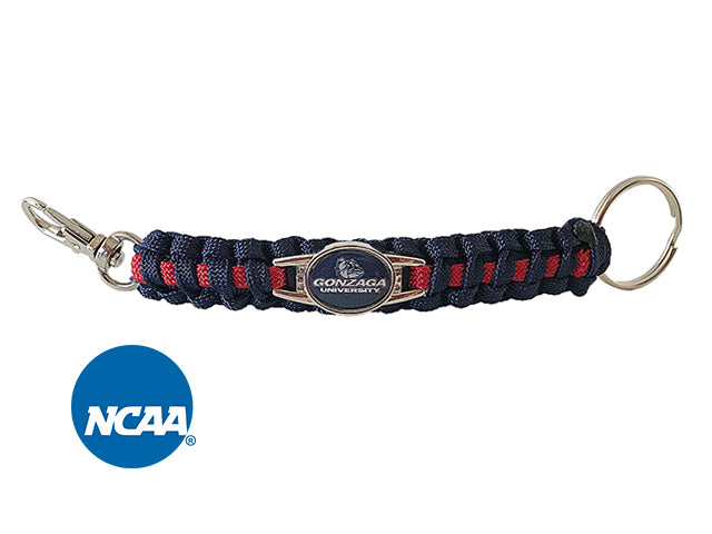 Officially Licensed Gonzaga Bulldogs Paracord Key Chain