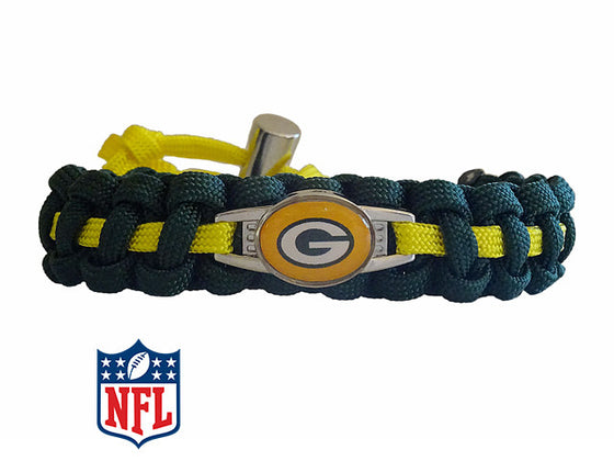 Officially Licensed NFL Green Bay Packers Paracord Bracelet