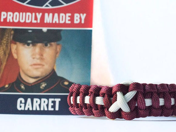 Head and Neck Cancer Awareness Paracord Bracelet