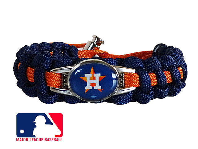 Officially Licensed MLB Houston Astros Paracord Bracelet