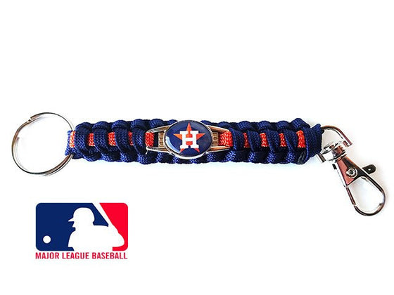 Offically Licensed MLB Houston Astros Paracord Keychain