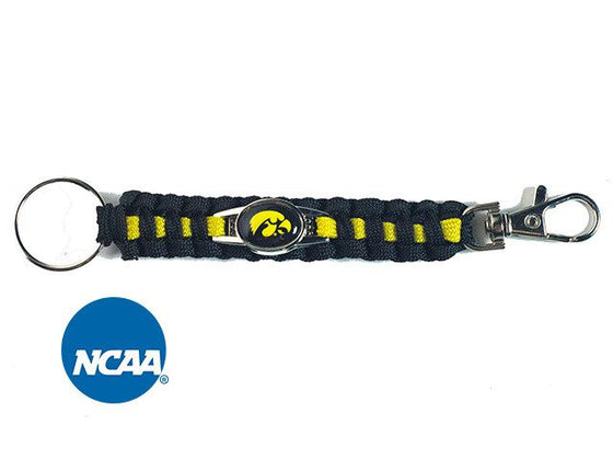 Officially Licensed Iowa Hawkeyes Paracord Keychain