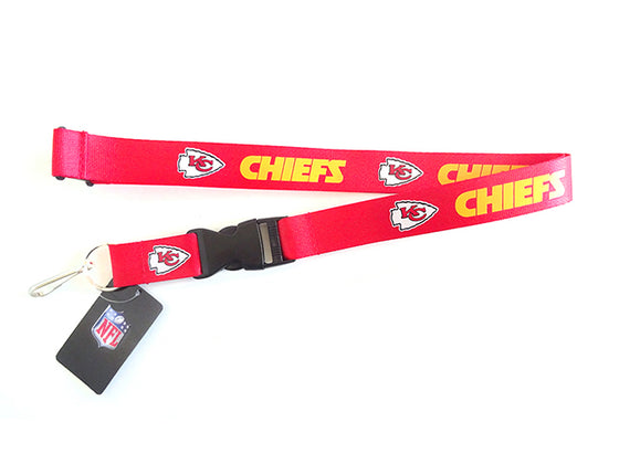 Officially Licensed NFL Kansas City Chiefs Lanyard with Paracord Badge Reel Attachment