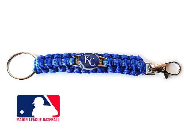 Offically Licensed MLB Kansas City Royals Paracord Key Fob