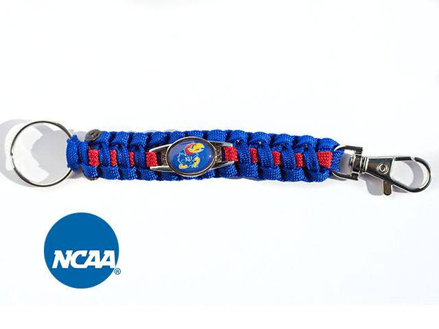 Officially Licensed Kansas Jayhawks Paracord Key Chain
