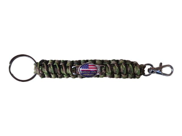 Support Our Veterans Paracord Keychain