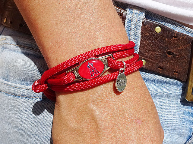 Los Angeles Angels Officially Licensed Designer Wrap Bracelet
