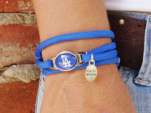 Los Angeles Dodgers Officially Licensed Designer Wrap Bracelet