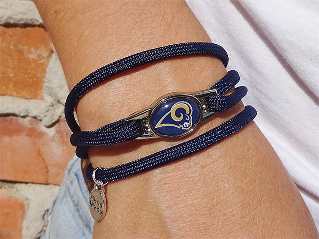 Los Angeles Rams Officially Licensed Designer Wrap Bracelet