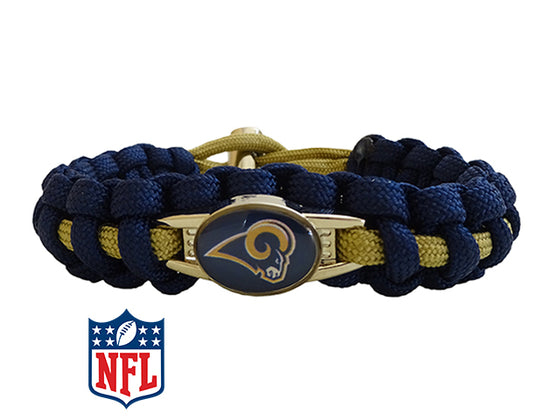 Officially Licensed NFL Los Angeles Rams Paracord Bracelet