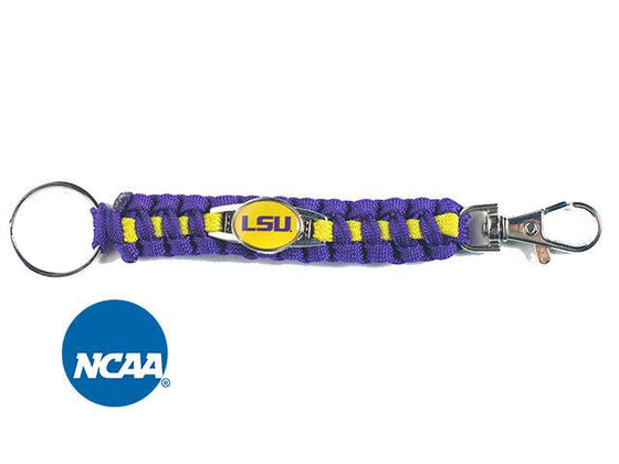 Officially Licensed LSU Tigers Paracord Keychain