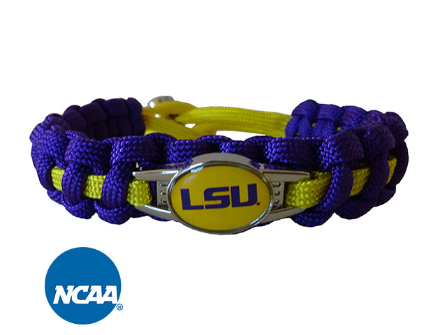 Officially Licensed LSU Tigers Paracord Bracelet