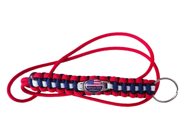 Support Our Veterans Paracord Lanyard