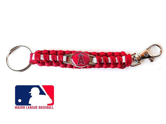 Offically Licensed MLB Los Angeles Angels Paracord Key Fob