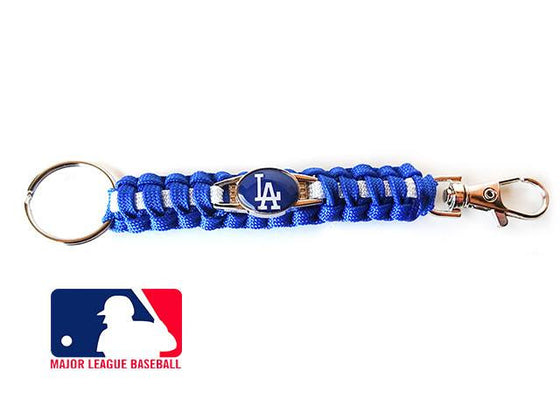 Offically Licensed MLB Los Angeles Dodgers Paracord Key Fob