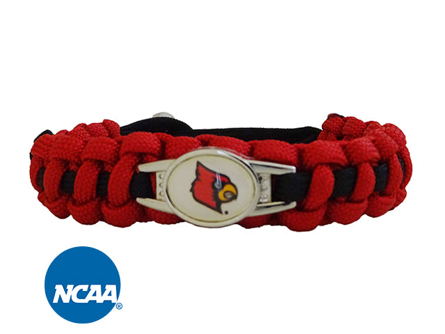 Officially Licensed Louisville Cardinals Paracord Bracelet