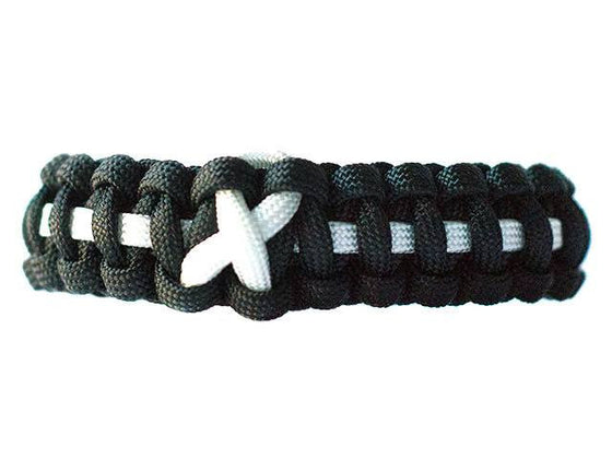 Lung Cancer Awareness Paracord Bracelet