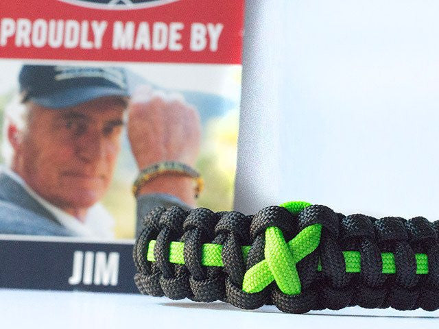 Lymphoma Awareness Paracord Bracelet