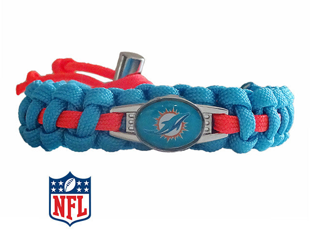 Officially Licensed NFL Miami Dolphins Paracord Bracelet