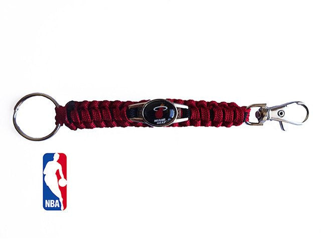 Offically Licensed NBA Miami Heat Paracord Keychain