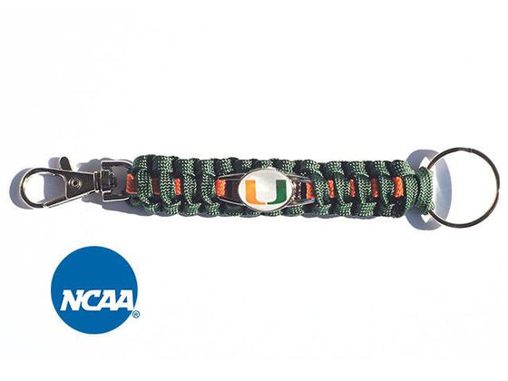 Officially Licensed Miami Hurricanes NCAA Paracord Keychain