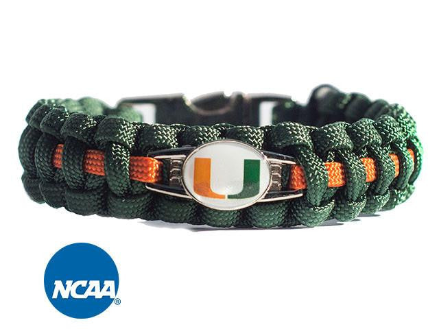 Officially Licensed Miami Hurricanes Paracord Bracelet