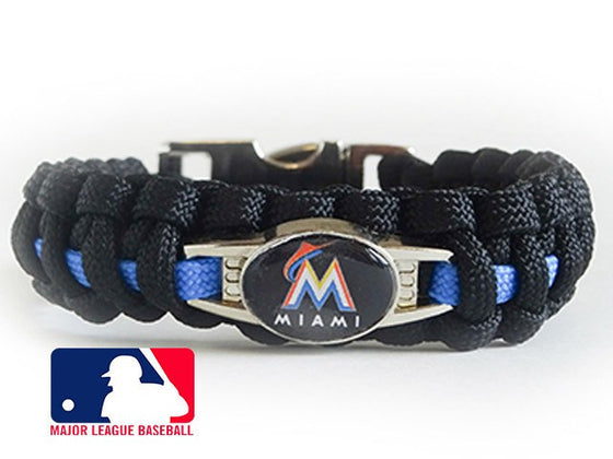 Officially Licensed MLB Miami Marlins Paracord Bracelet