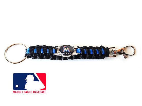Offically Licensed MLB Miami Marlins Paracord Key Fob
