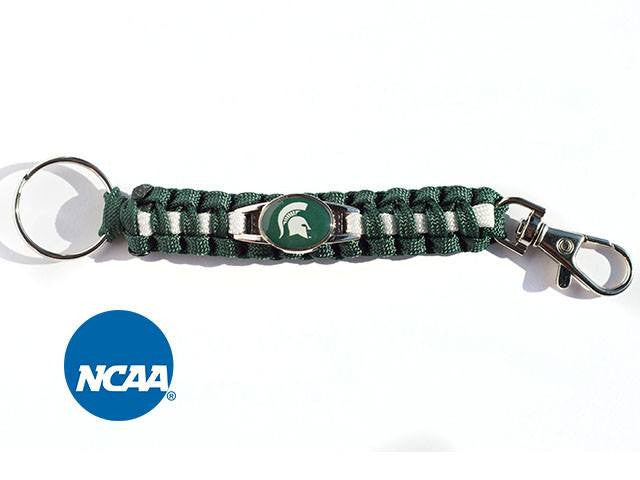 Officially Licensed Michigan State Spartans Paracord Keychain