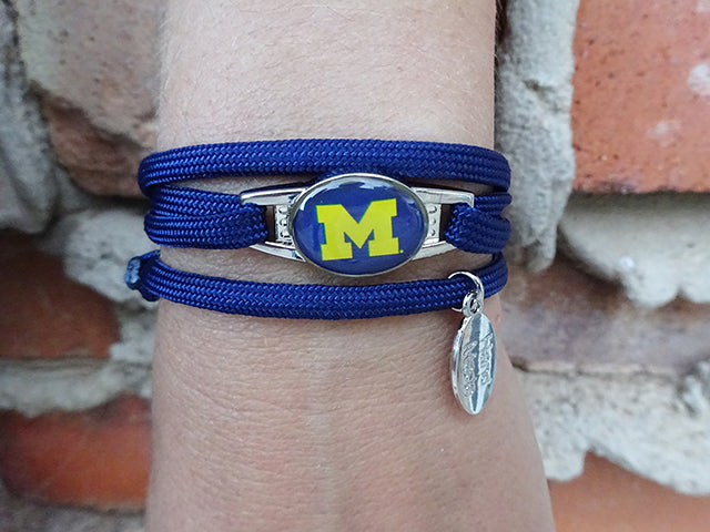 Michigan Wolverines Officially Licensed Designer Wrap Bracelet