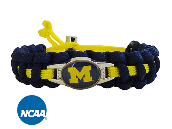 Officially Licensed Michigan Wolverines Paracord Bracelet