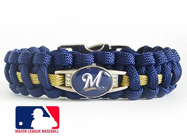 Officially Licensed MLB Milwaukee Brewers Paracord Bracelet