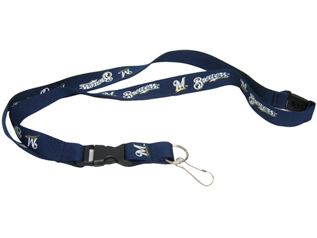 Officially Licensed MLB Milwaukee Brewers Lanyard with Paracord Badge Reel Attachment