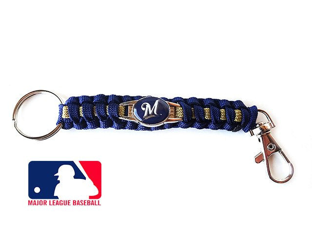 Offically Licensed MLB Milwaukee Brewers Paracord Keychain