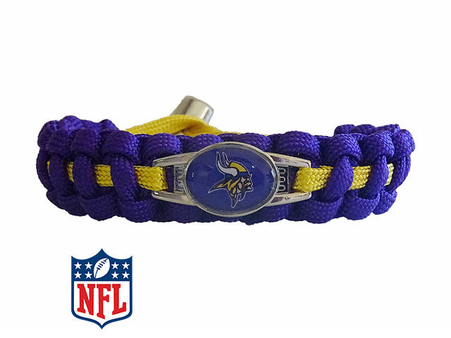Officially Licensed NFL Minnesota Vikings Paracord Bracelet