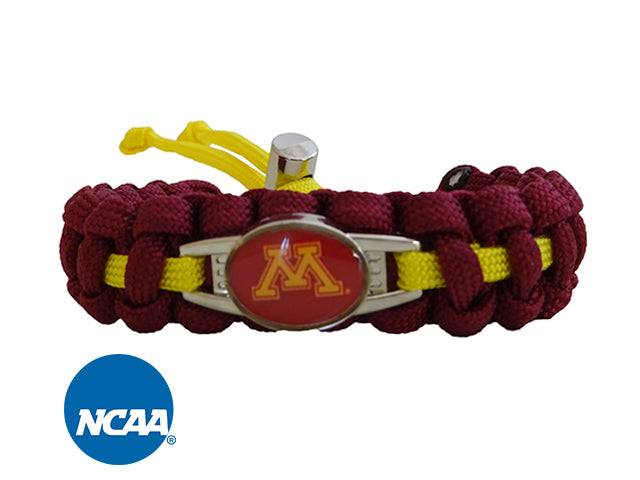 Officially Licensed Minnesota Golden Gophers Paracord Bracelet