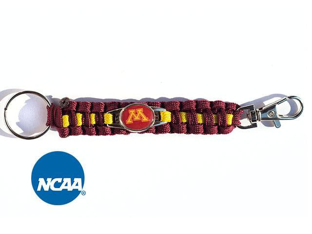 Officially Licensed Minnesota Golden Gophers Paracord Key Chain